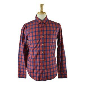 American Eagle Outfitters Button Down Shirt SM Red